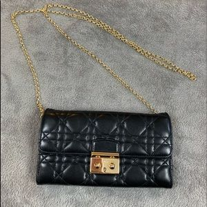 Authentic Lady Dior Quilted Lambskin Cannage WOC